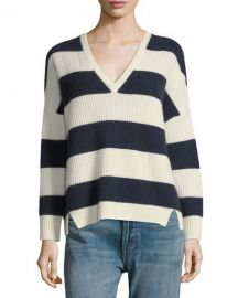 Kule Addison V-Neck Long-Sleeve Striped Sweater   Neiman Marcus at Neiman Marcus