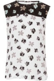 Kyle floral-print washed-silk top at The Outnet