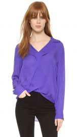 L AGENCE  Rita  Silk Double Georgette Blouse at Nordstrom