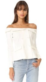L  039 AGENCE Stephan Off Shoulder Top at Shopbop