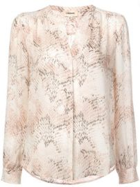 L  39 agence Snake Print Collarless Blouse - Farfetch at Farfetch