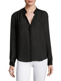 L AGENCE - Bianca Buttoned Silk Blouse at Saks Fifth Avenue