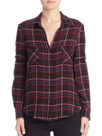 L AGENCE - Denise Plaid Button-Front Blouse at Saks Off 5th
