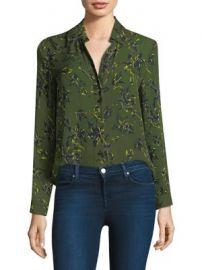 L AGENCE - Nina Leaf-Print Silk Blouse at Saks Fifth Avenue