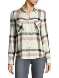 L AGENCE - Plaid Long-Sleeve Button-Down Shirt at Saks Fifth Avenue