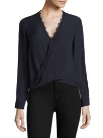 L AGENCE - Rosario Lace Trimmed Silk Top at Saks Fifth Avenue