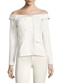 L AGENCE - Stephan Double-Breasted Off-The-Shoulder Top at Saks Fifth Avenue