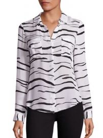 L AGENCE - Valerie Safari Printed Silk Blouse at Saks Fifth Avenue