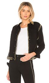 L AGENCE Celine Studded Jacket in Saturated Black from Revolve com at Revolve