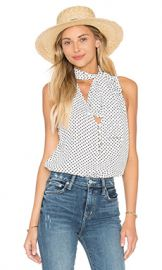 L Academie The 70 s Tank Blouse in Dot from Revolve com at Revolve