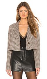 L Academie The Lori Cropped Jacket in Brown from Revolve com at Revolve