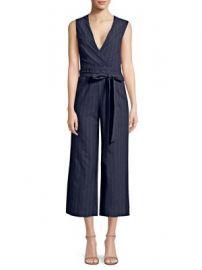 L Agence - Joslyn Linen Striped Jumpsuit at Saks Fifth Avenue