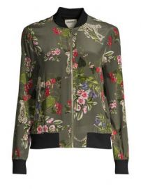 L Agence - Ollie Silk Print Bomber Jacket at Saks Fifth Avenue