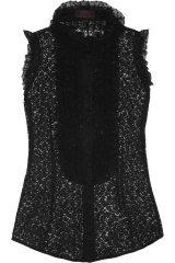 L Wren Scott Ruffled Lace Top at The Outnet