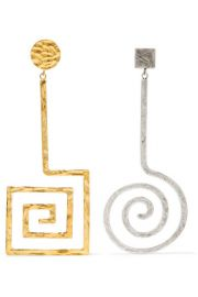 LA SPIRALE GOLD AND SILVER-TONE EARRINGS at Net A Porter