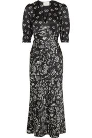 LAURA JACKSON ZADIE PRINTED SILK MAXI DRESS at Net A Porter