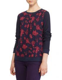 LAUREN Ralph Lauren Georgette Front Sweatshirt at Lord & Taylor