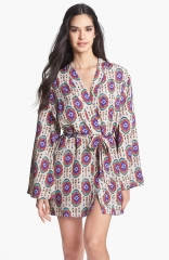 LFV by La Fee Verte Kimono Robe in oval print at Nordstrom