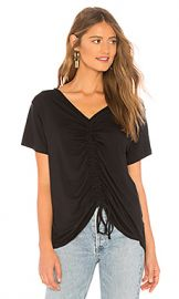 LNA Casey Cinched Tee in Black from Revolve com at Revolve