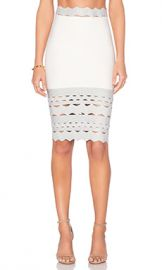 LOLITTA Cutout Hem Skirt in Off White  amp  Silver from Revolve com at Revolve
