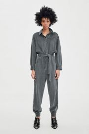 LONG BELTED JUMPSUIT at Zara
