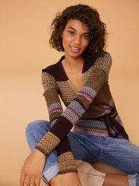 LONG SLEEVE WRAP SWEATER at DvF