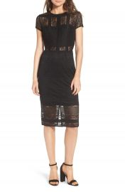 LOST INK Lace Body-Con Dress at Nordstrom