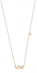 LOVE letters necklace by Jennifer Zeuner at Shopbop