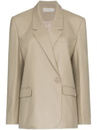 LOW CLASSIC ONE BUTTON DOWN DOUBLE-BREASTED BLAZER - BROWN at Farfetch
