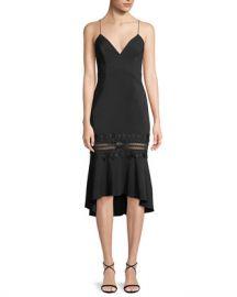 La Maison Talulah Heavenly Sleeveless Flounce Midi Dress at Neiman Marcus