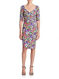La Petite Robe Ruched Floral Sheath Dress at Saks Off 5th