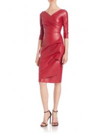 La Petite Robe di Chiara Boni - Ruched Faux Leather Sheath Dress at Saks Fifth Avenue