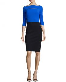 La Petite Robe di Chiara Boni Colorblock Cocktail Dress at Neiman Marcus