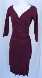 La Petite Robe di Chiara Boni Merlot Calantine Sheath Dress at eBay