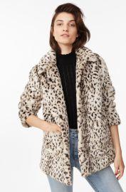 La Vie Lynx Faux Fur Coat   Rebecca Taylor at Rebecca Taylor