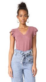 La Vie Rebecca Taylor Short Sleeve Washed Textured Jersey Top at Shopbop