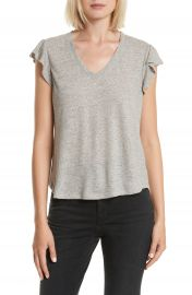 La Vie Rebecca Taylor Washed Texture Jersey Tee at Nordstrom