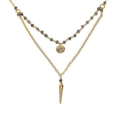 Labradorite Stacking Necklace at Etsy