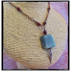 Labradorite and Antiqued Copper Necklace at Etsy