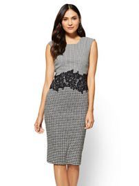 Lace-Accent Sheath Dress - 7th Avenue by New York  Company at NY&C