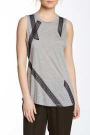Lace Applique Muscle Tee at Nordstrom Rack