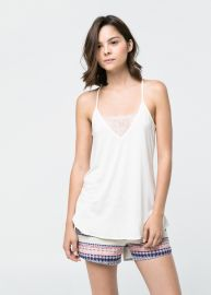 Lace Applique Top at Mango