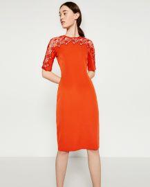 Lace Detail Dress at Zara