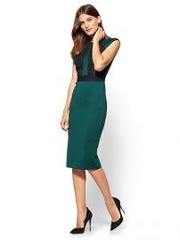 Lace Detail Sheath Dress  at NY&C