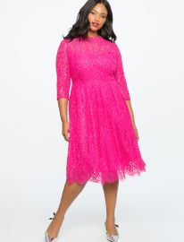 Lace Fit and Flare Dress by Eloquii at Eloquii