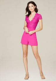 Lace Georgette Romper at Bebe