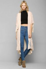 Lace Godet Kimono Jacket at Urban Outfitters