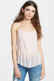 Lace Inset Sheer Camisole at Nordstrom Rack