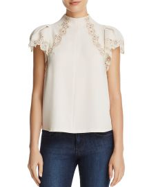 Lace-Inset Top by Rebecca Taylor at Bloomingdales