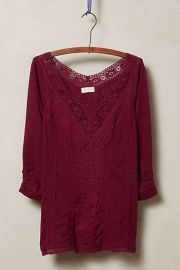 Lace Medley Top in Red at Anthropologie